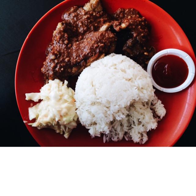 Satay Chicken Chop Rice