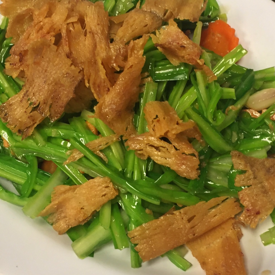 青龍菜炒魷魚 Stir Fried Green Dragon With Cuttlefish