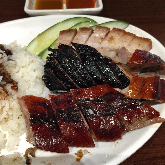 Kay Lee's trio of roast  meats.