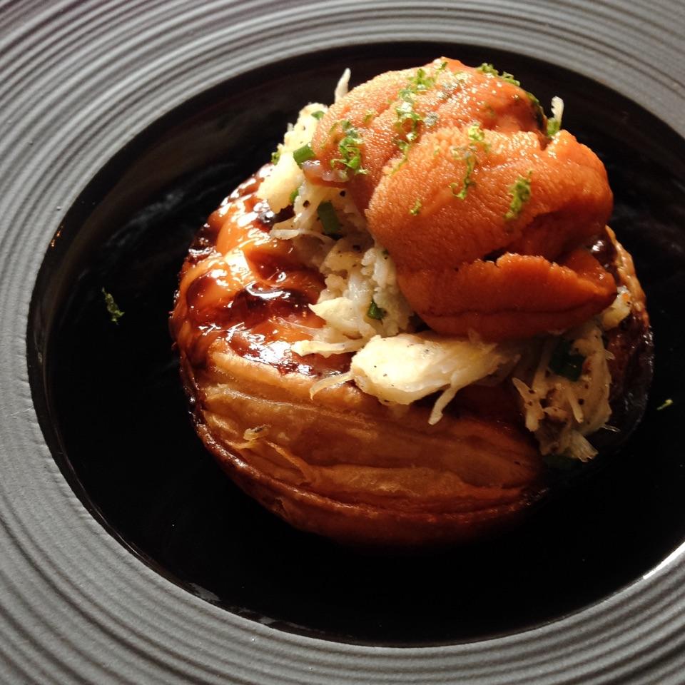 Sea Urchin & Crab Tart