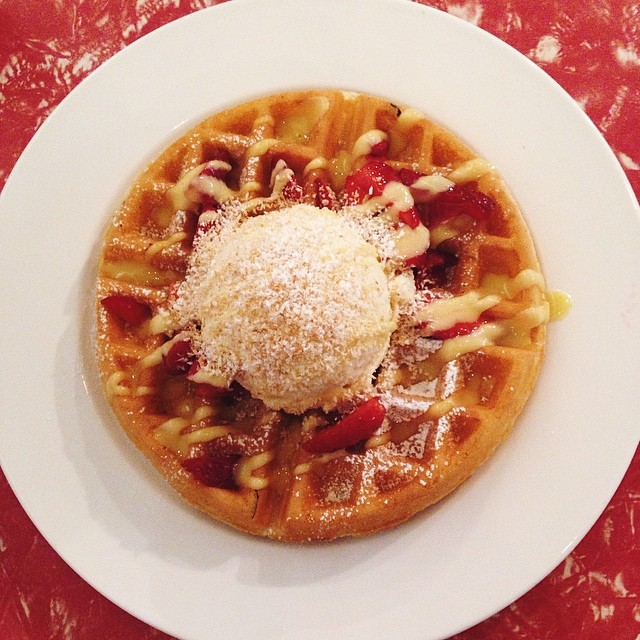 One waffle at a time.