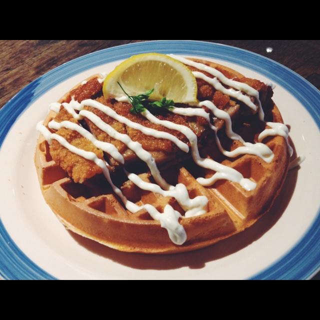 Chicken Schnitzel Buttermilk Waffle