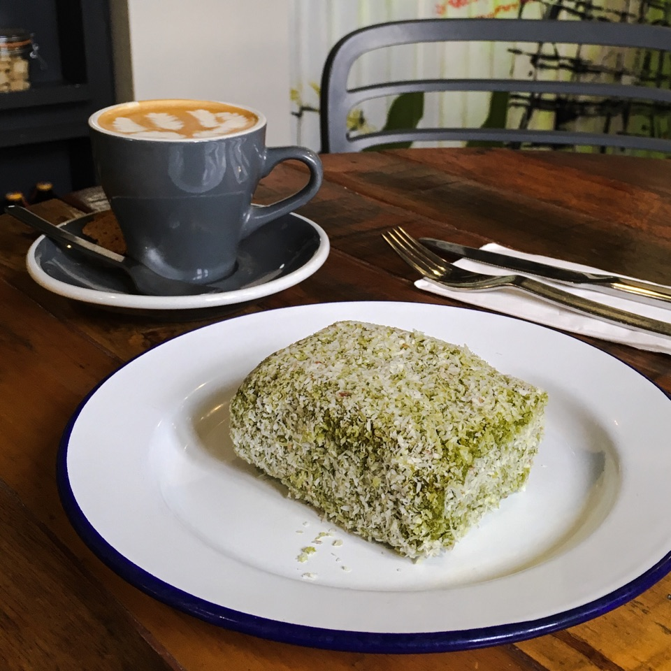 Matcha Lamington