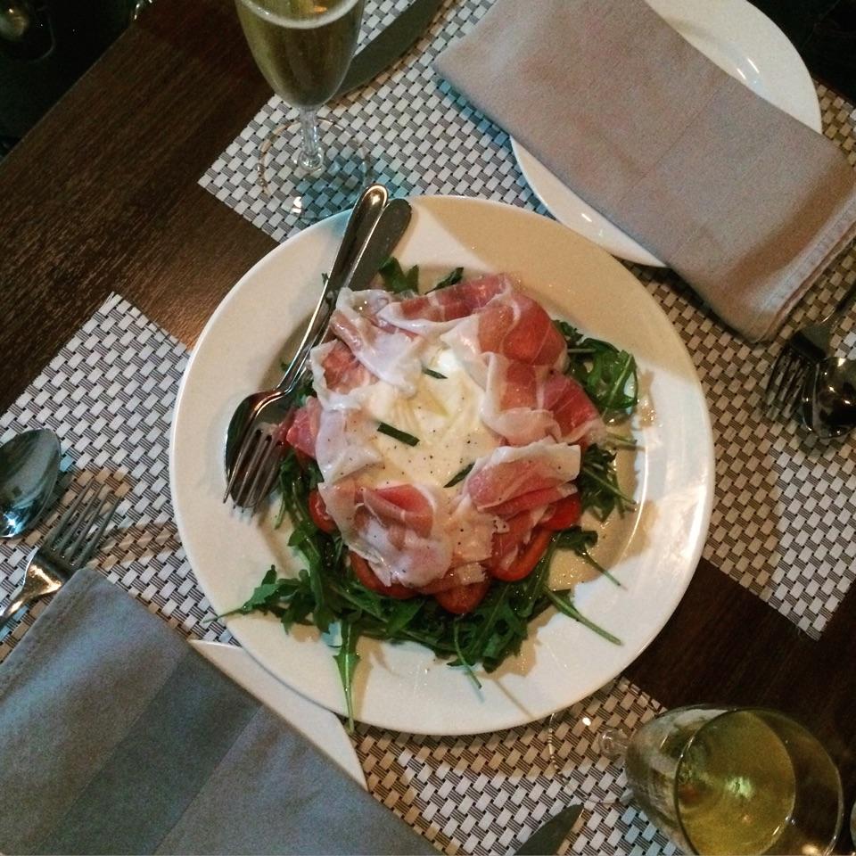 Burrata Cheese With Parma Ham