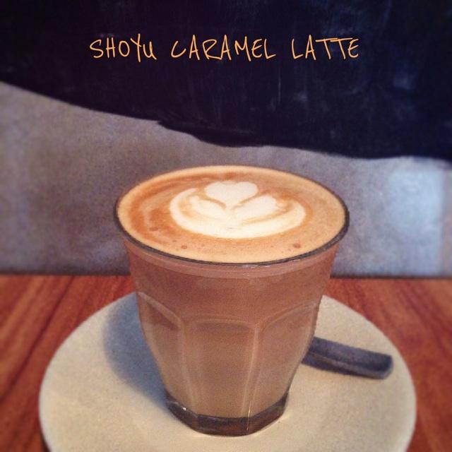 Shoyu Caramel Latte ($5)