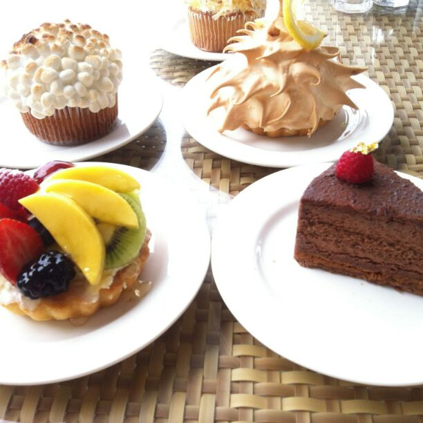 assortment of cakes and tarts