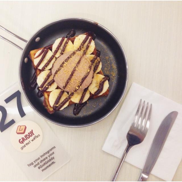Banana Rocher Waffles