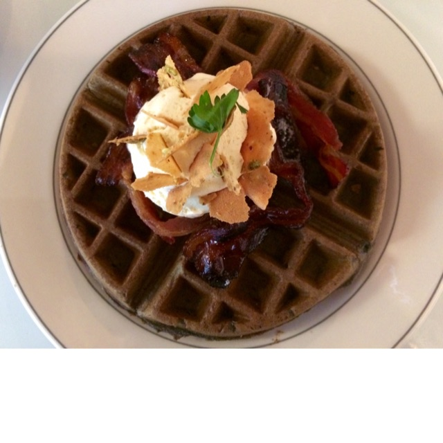 Squid Ink Waffles