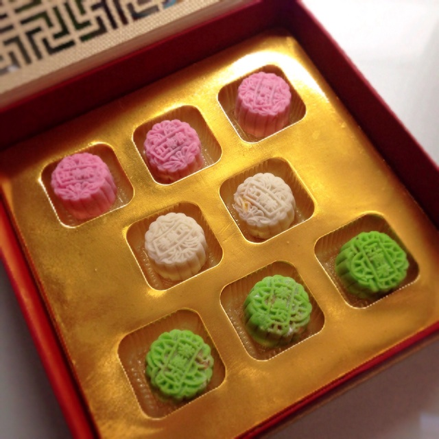 Mooncakes from Jiang Nan Chun ($58 for 8 mini snowskin)