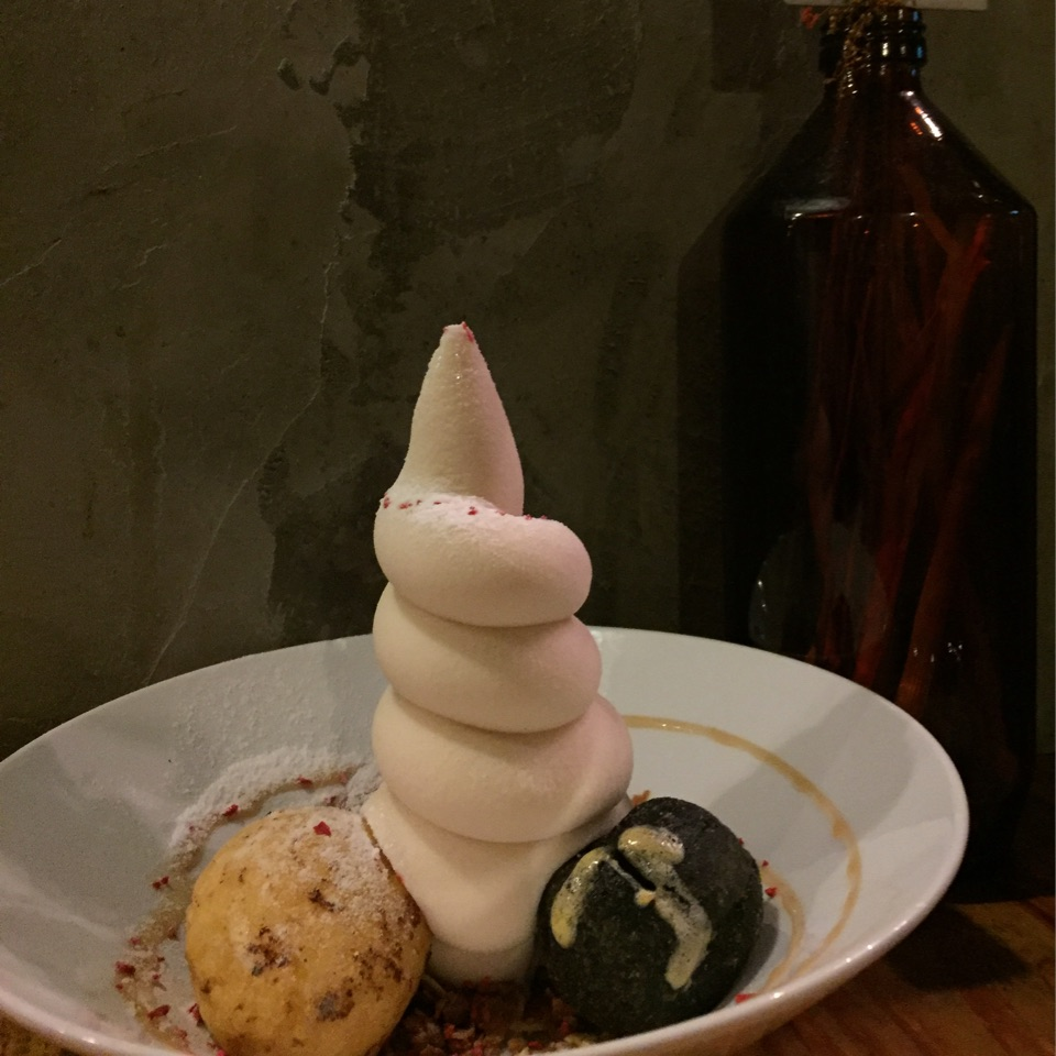winter melon soft serve with mochi!!!