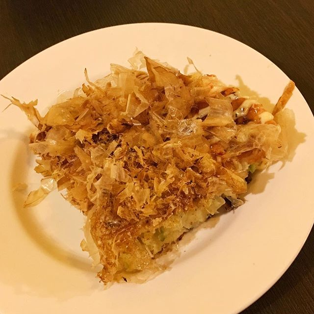 Mix Okonomiyaki The pancake was very nice to have with its light batter taste, warm and moist texture!