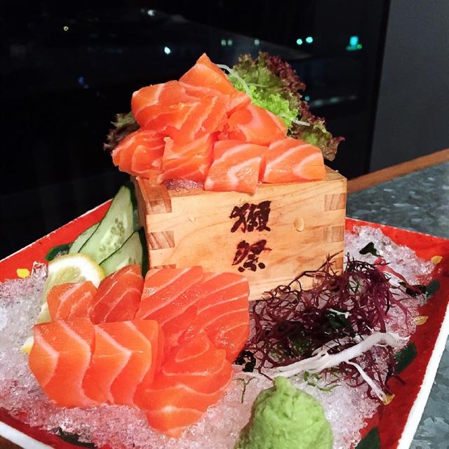 Salmon Tenko Sashimi ($20.80++)
