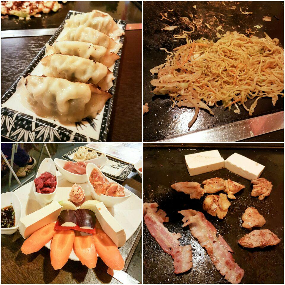 Gyoza, Yaki Soba, Meat Platter
