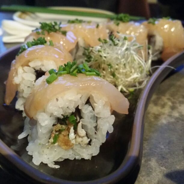 Truffled Yuzu Tai roll