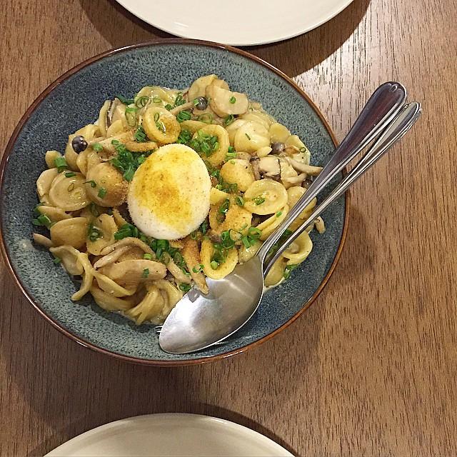 Orecchiette Pasta @ Kitchen Table  Dinner menu.