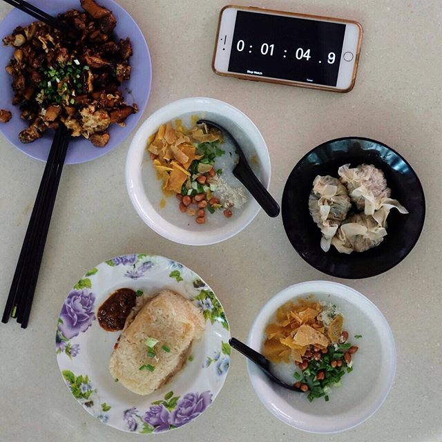 Hawker Breakfast  One thing I love about Singapore Food culture.