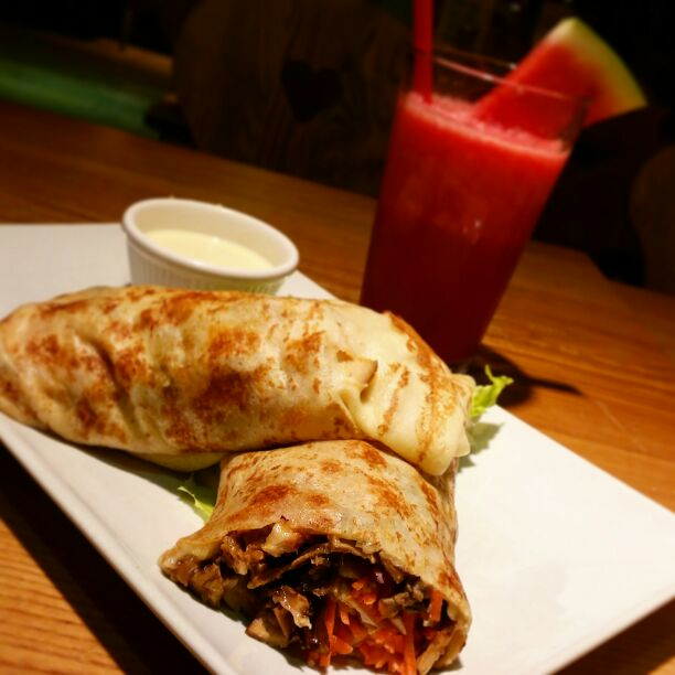 Roasted Chicken Crepe