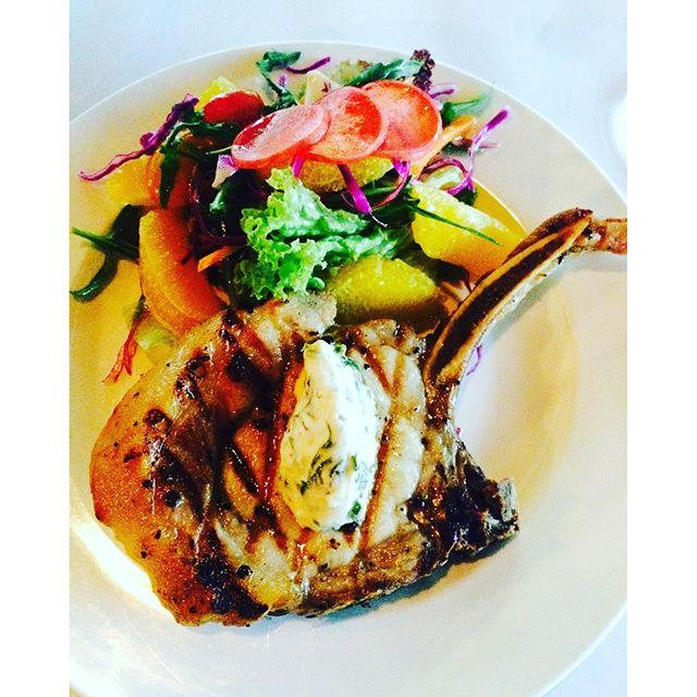 Pork chop on bone for lunch?