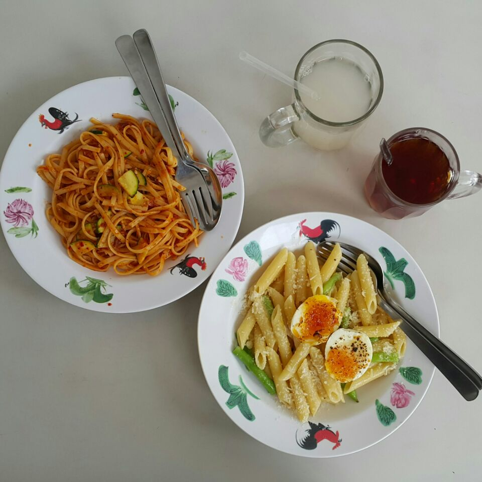 Warm Bath & Spicy Zucchini