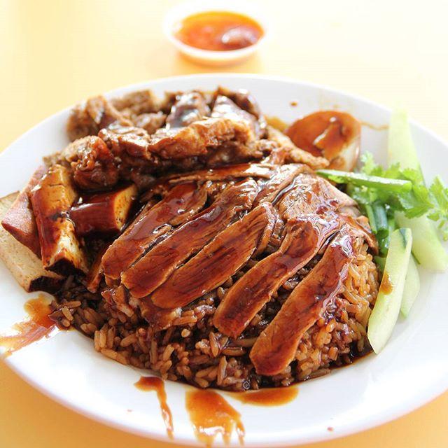Braised Duck Rice  Chuan Kee Boneless Braised Duck Rice .