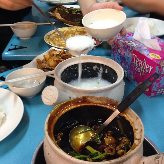 #Supper #Frog #Porridge #Stingray #Lala #Phadthaibeans #Eggs #Shiok!