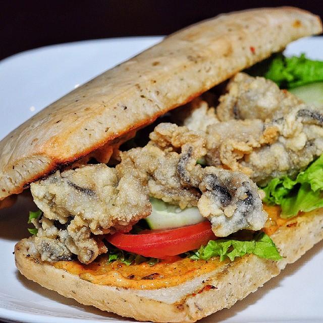 Fresh oyster sandwich