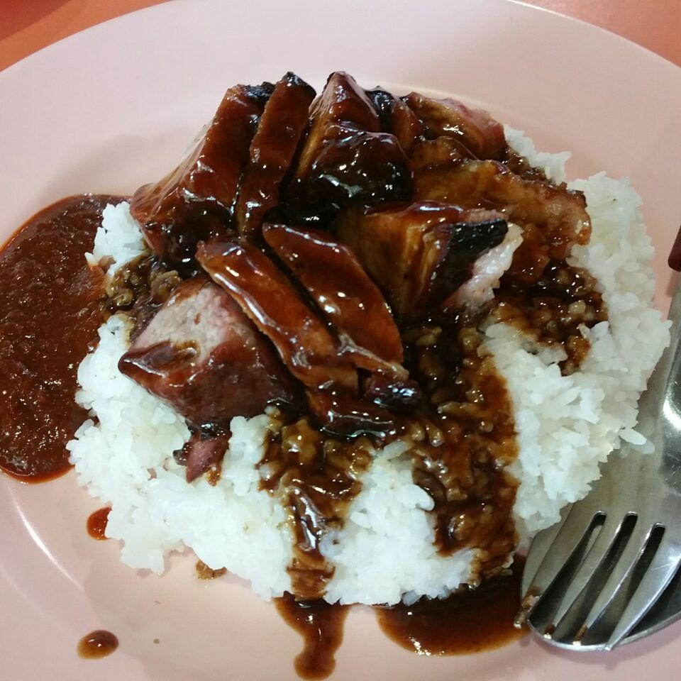 $3 char siew rice