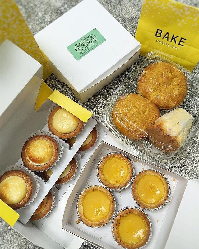 Food Hunting | Bake Cheese Tart Vs Egg Tarts .