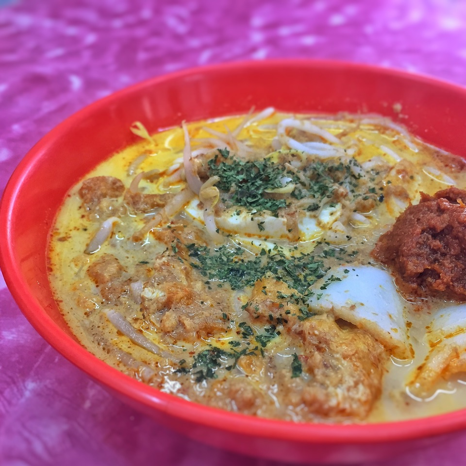 Laksa ($2.80 for small, $3.30 for large)