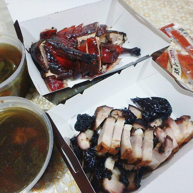 Super yummy legendary black charsiew, roastpork & duck ($45)!!!