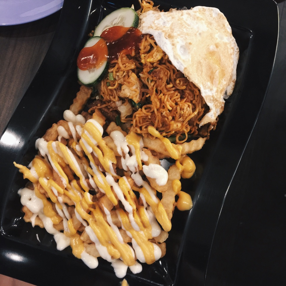 Maggie Goreng with Cheese Fries ($7.50)