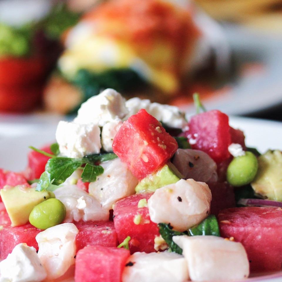Watermelon & Raw Snapper Salad