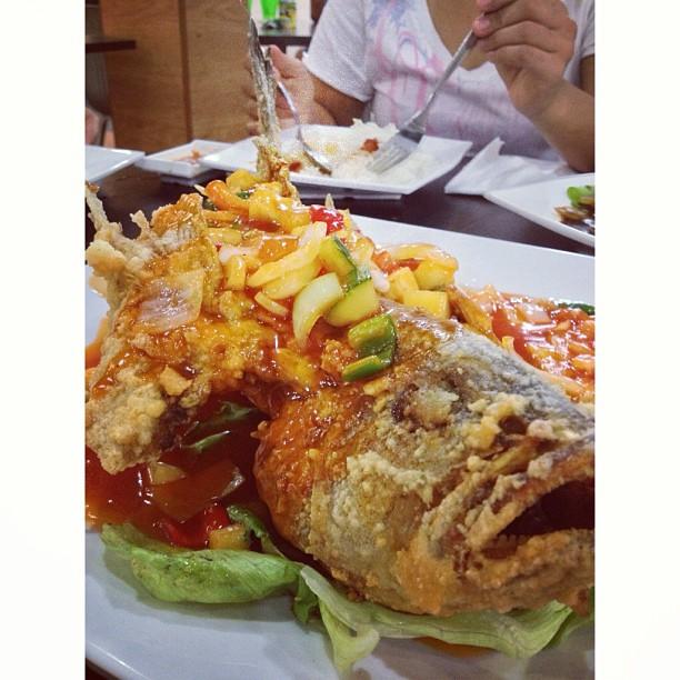 Sweet & Sour Grouper #foodphotography #foodonfoot #foodporn #sweet #sour #grouper