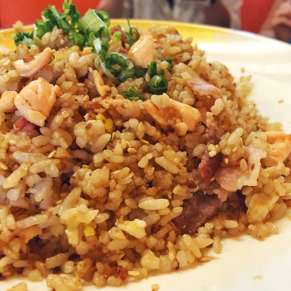 Salmon And Bacon Fried Rice ($12)