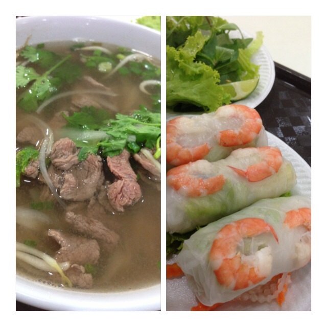 Beef Pho & Spring Roll