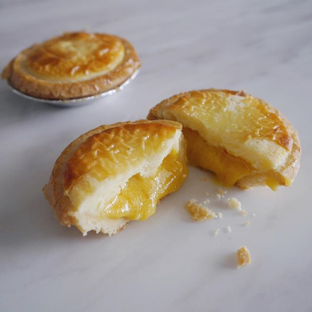 Salted Egg Lave Cheese Tarts ($2.40)