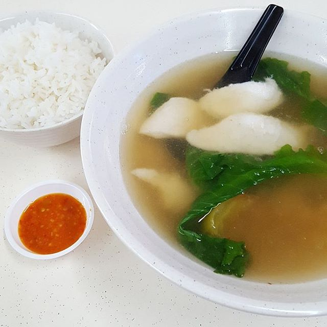 Today's Lunch; Slice Fish Soup ($4/6).