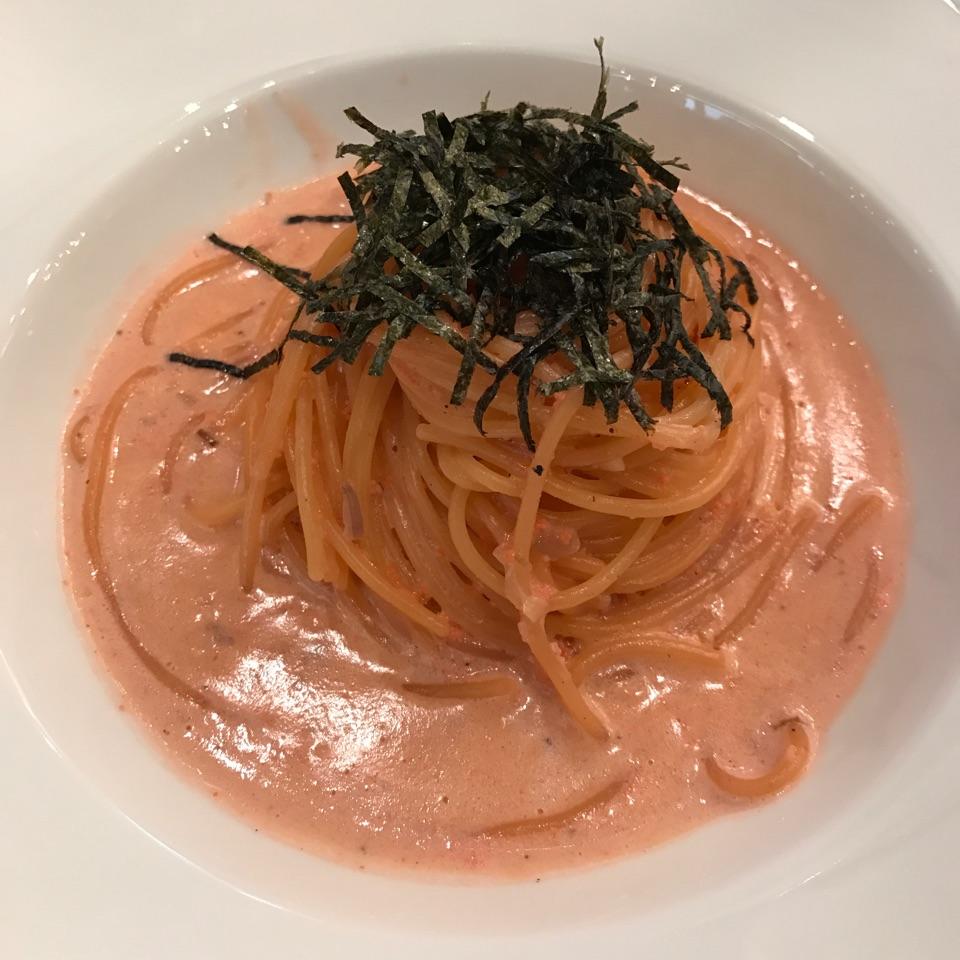 Mentaiko spaghetti with cream sauce