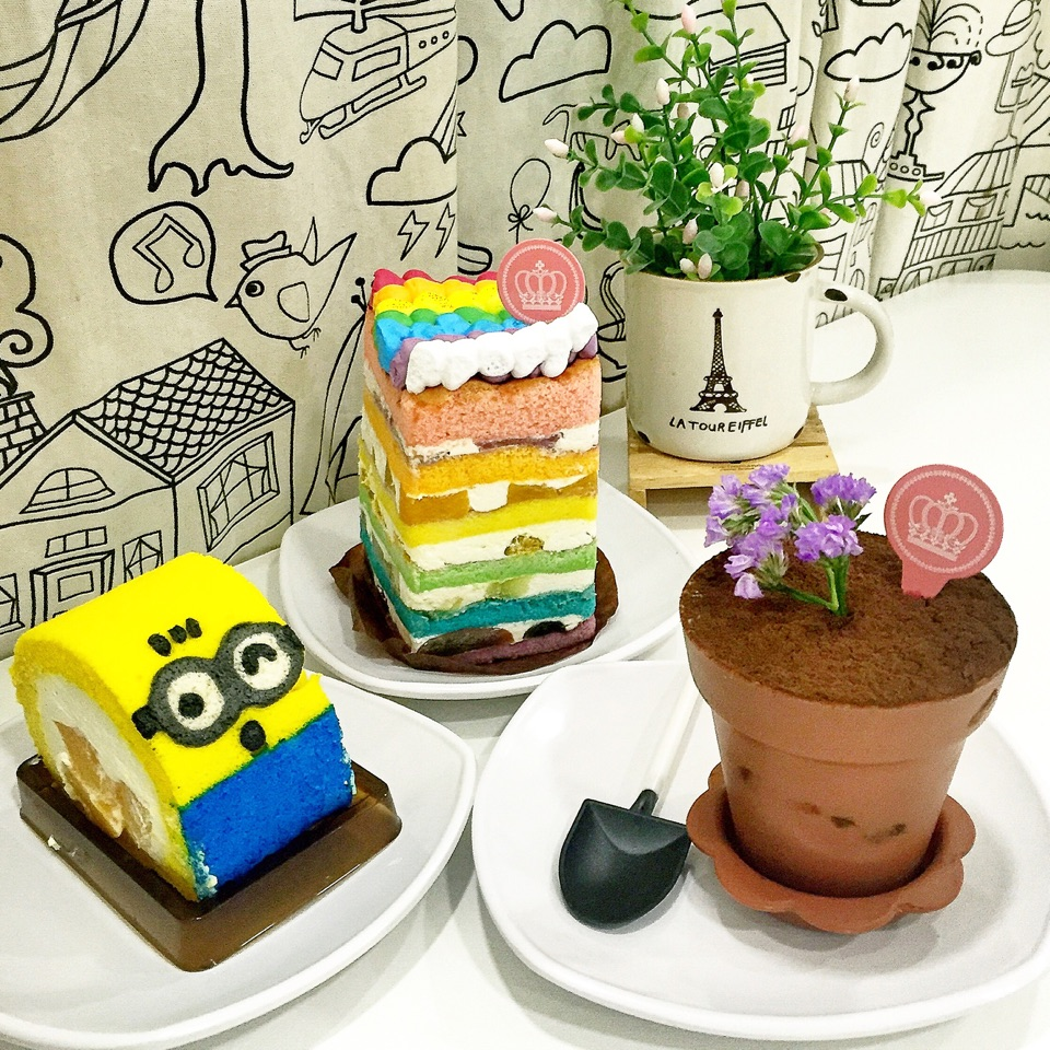 Yam Ice Cream Cake