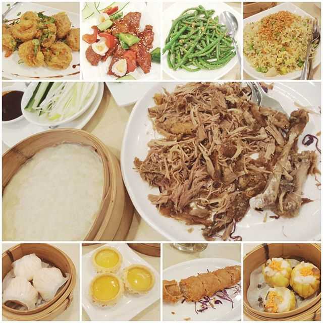 fragrant crispy duck peking style, dishes and dimsum with the family to end the weekend!