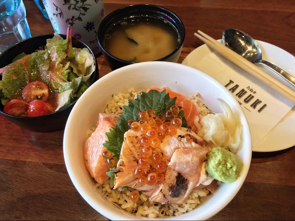 Salmon Kaisen Lunch Set