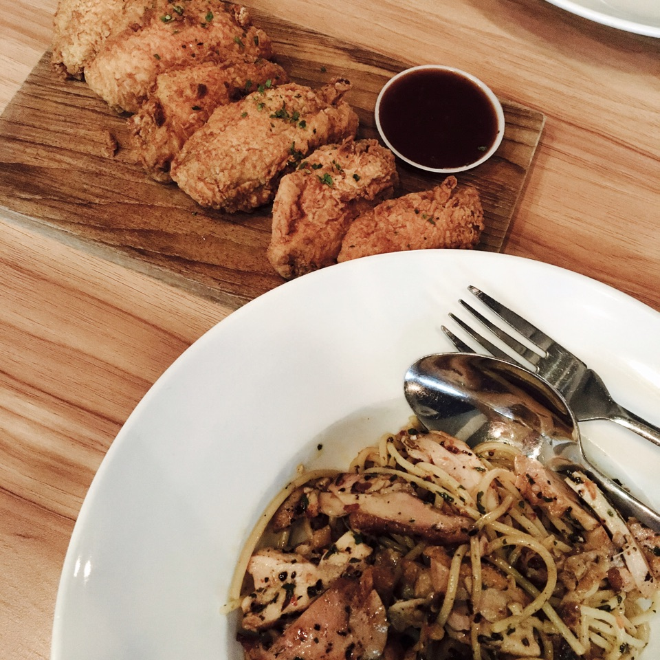 Aglio Olio and The Usual Wings