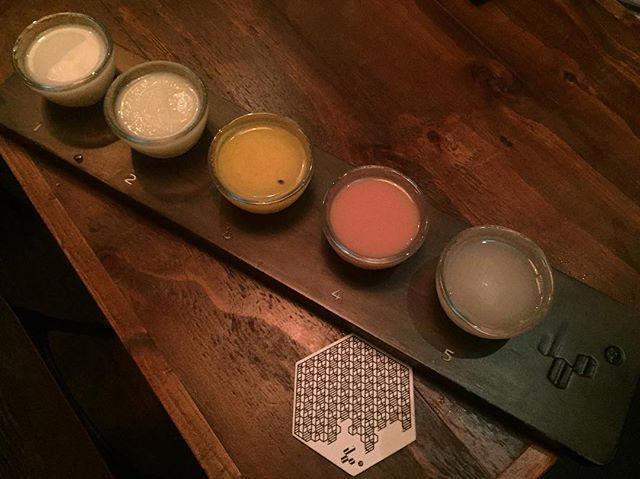 Makgeolli Sampler Set ($35) 🍶 This was the grand finale of the nite.