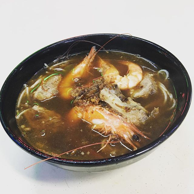 Prawns are fresh but the broth lacks flavour so overall still meh.