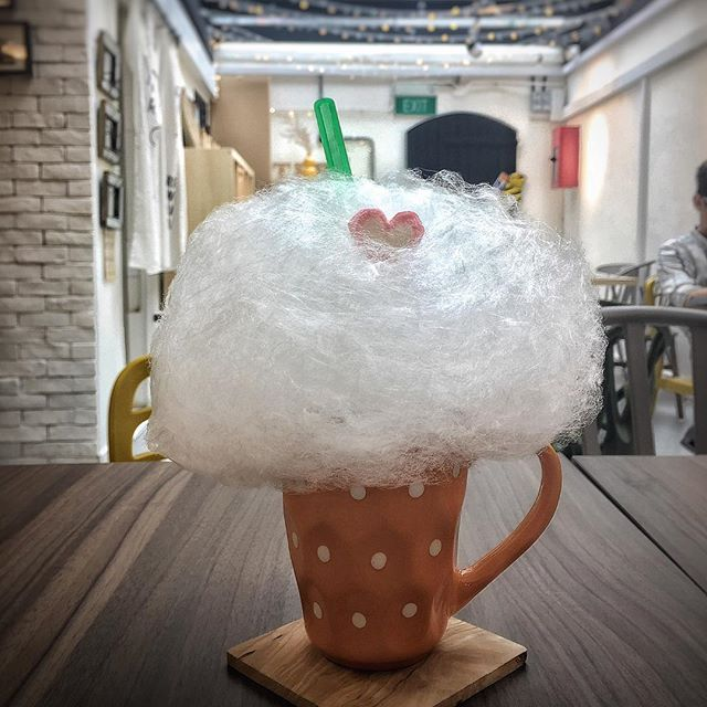 "Reminiscing my younger days with this whimsical drink at @bananatreesg ☁️ Candy floss is such a childhood thing and a sweet treat I've abandoned since my primary school days, in favour of more ""sophisticated"" snacks."