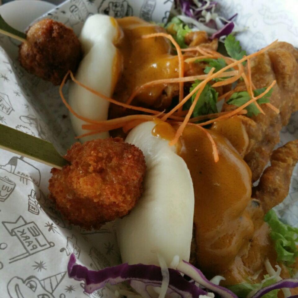Salted Egg Yolk (SEY) Softshell Crab Slider ($14)