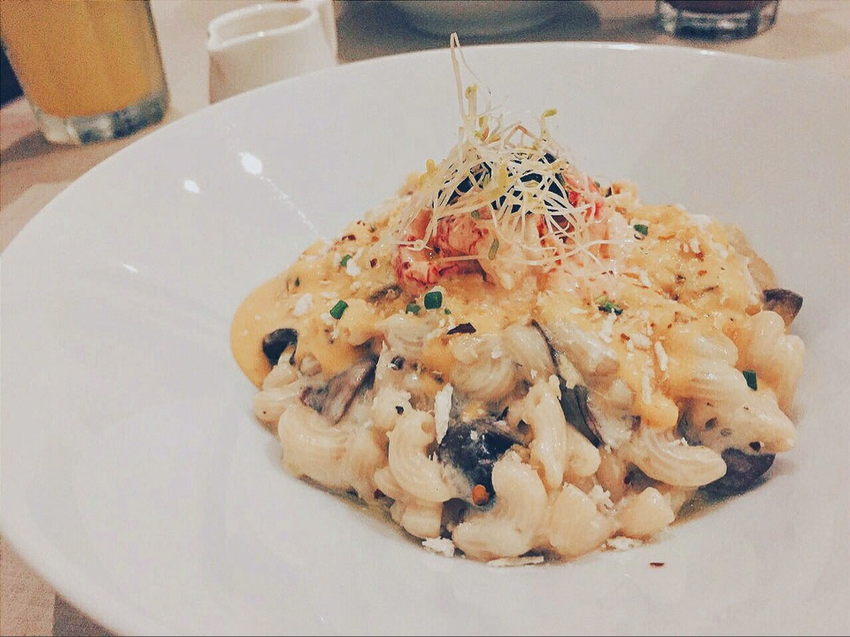 Salted Egg Crawfish Mac & Cheese