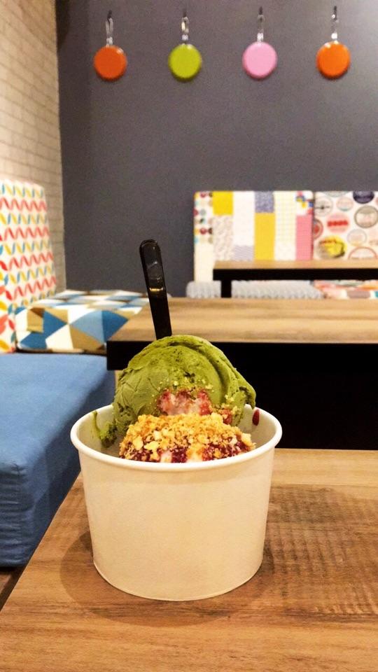 Uji Matcha + Strawberry Cheesecake Ice Cream