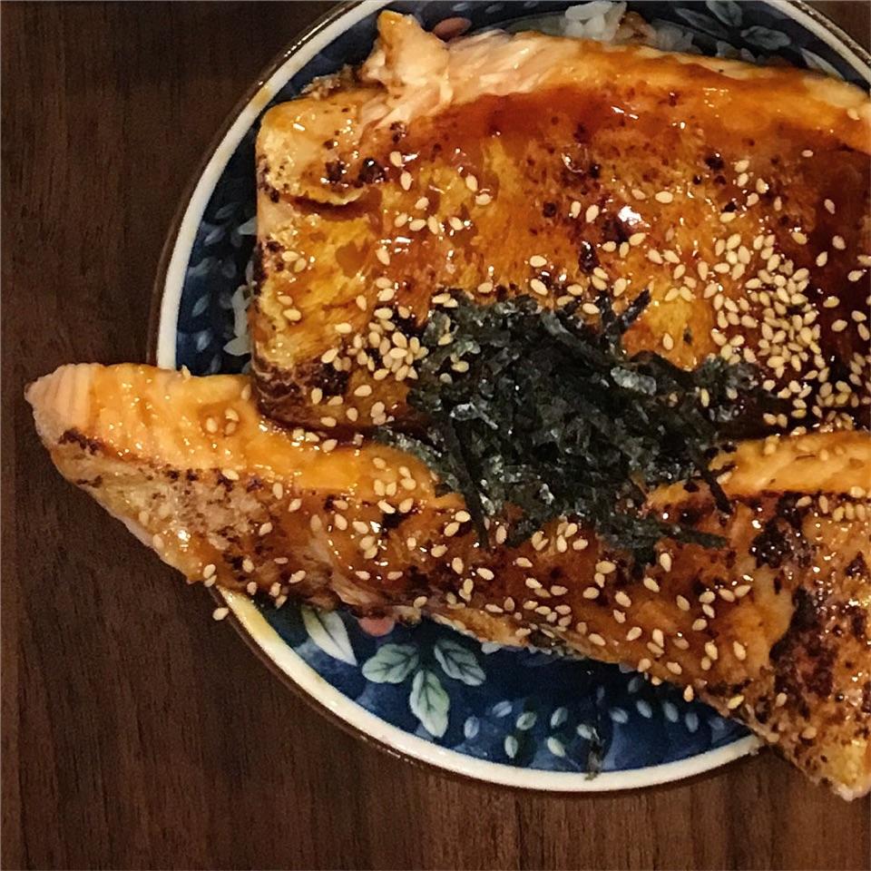 Salmon Belly Teriyaki Don