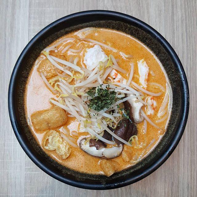 8🌟 / 10🌟 Yummy Vegetarian Laksa with Shitake Mushroom and Mock Prawns and Prawn Balls @ S$7.50 from Green Dot Restaurant at WestGate Mall